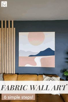 Large-scale art is impressive, but it is so expensive to buy! Make your own by creating a DIY tapestry frame using 1x2 lumber. Wall Decor Crafts, Home Decor, Large Scale Art, Fabric Wall Art, Make Your Own, Gallery Wall, Tapestry, Simple, Frame
