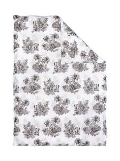 Viidakkoaiheisesti kuvioitu pussilakana on valmistettu mukavasta perkaalipuuvillasta. Lankaluku 200.