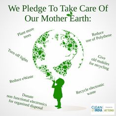 Time to say goodbye to 2014 and welcome 2015. Come, before starting a new journey we should all pledge an #ecofriendly Nation.
