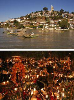 Noche de Dia de Muertos en Isla Janitzio, Mexico