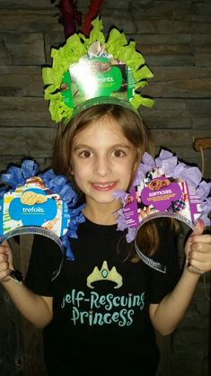 Girl Scout Cookie Crowns for door-to-door sales and cookie booth