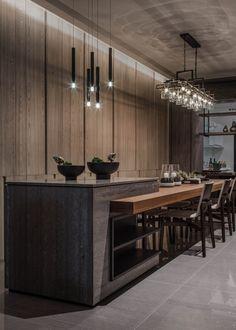 Open Plan Kitchen Living Room, Kitchen Room Design, Modern Kitchen Design, Interior Design Kitchen, Kitchen Decor, Apartment Kitchen, Apartment Interior, Custom Kitchens, Küchen Design