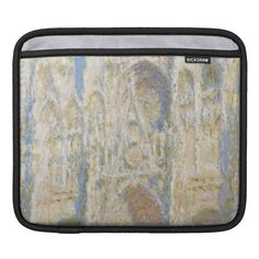 Rouen Cathedral West Facade Sunlight by Monet iPad Sleeve