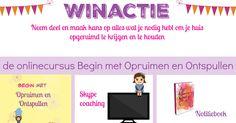 Winactie online-training 'Begin met Opruimen en Ontspullen'