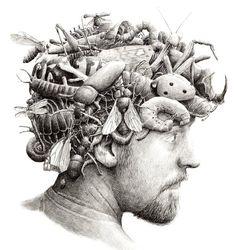 """Uma das coisas mais atraentes no surrealismo é o descompromisso com o real. O estilo artístico é autossuficiente em criação de universo.Partindo deste ponto, incríveis obras podem surgir das mentes mais criativas e não-lineares do mundo. Redmer Hoekstra é uma dessas pessoas que abre mão da cópia do fato em seus desenhos. Seu trabalho traz...<br /><a class=""""more-link""""…"""