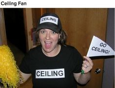 Ceiling fan Lolololololololol great for Halloween. This girl is doing it right!
