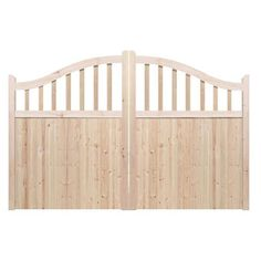 Driveway gates - The Torbay. Constructed by hand in the UK using the finest Redwood Pine. Made to measure. Huge range of designs to choose from.