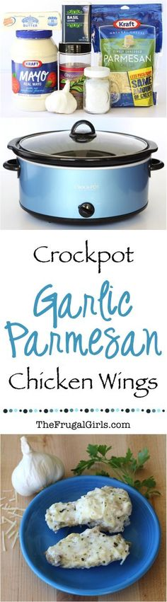 Crock Pot Garlic Parmesan Chicken Wings Recipe! ~ from TheFrugalGirls.com ~ these crave-worthy wings are an instant celebrity at any party... by far my absolute favorite!! #slowcooker #recipes #thefrugalgirls