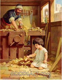 Baby Jesus in Carpenter Shop