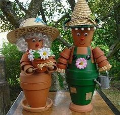 Clay Pot Couple