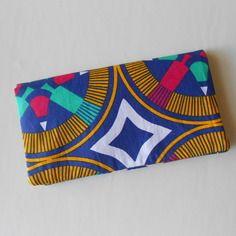 Porte-chéquier/porte-cartes en tissu africain
