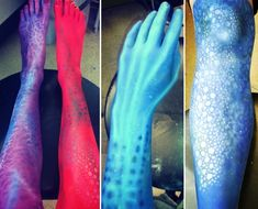 Extreme-ities! We love seeing the creature limbs from our #Makeup students during their #Airbrush in-class practical sessions!