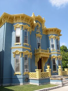 Blue & Gold Victorian House, Eaton, Ohio