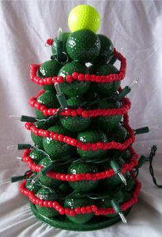 christmas crafts with golf balls | Cynspiration: Golf Ball Christmas Tree