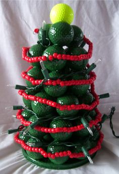 christmas crafts with golf balls | Cynspiration: Golf Ball Christmas Tree