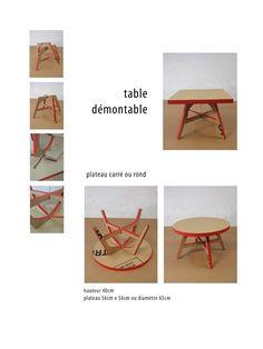 meuble en carton, table basse