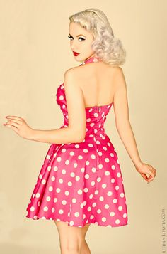 42 Ideas Vintage Dresses Pin Up Pinup Art For 2019 Rockabilly Style, Rockabilly Fashion, Retro Fashion, Vintage Fashion, Rockabilly Shoes, Rockabilly Dresses, Moda Vintage, Vintage Mode, Vintage Girls