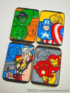 """The Avengers"" custom cookies, via Flickr."