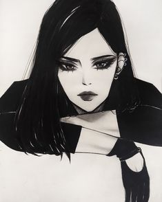 how to survive in a nightlife do not post without the source Dark Fantasy Art, Dark Art, Aesthetic Art, Aesthetic Anime, Art Sketches, Art Drawings, Art Du Croquis, Digital Art Girl, Dark Anime