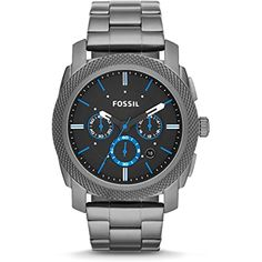 Fossil Watches For Men, Vintage Watches For Men, Luxury Watches For Men, Cool Watches, Men's Watches, Stainless Steel Watch, Stainless Steel Bracelet, The Buckle Store, Herren Chronograph
