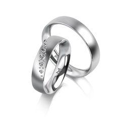 MEISTER Wedding-Ring SYMBOLICS Twinset 109 - wedding-rings whitegold   MEISTER