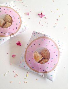 Printable donut gift bags for Craft Hunter