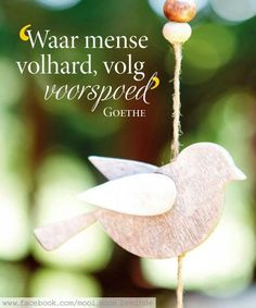 __ⓠ Goethe - Waar mens volhard volg voorspoed. Woman Quotes, Life Quotes, Goeie Nag, Goeie More, Afrikaans Quotes, The Secret Book, Printable Quotes, Religious Quotes, Christian Inspiration