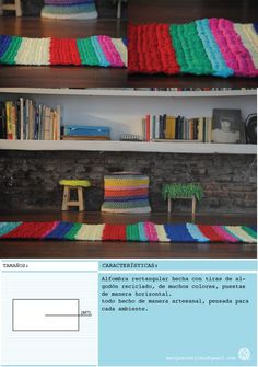 ALFOMBRA RECTANGULAR DE 2MTS. hecho con material reciclado