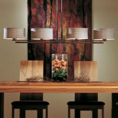 Trestle Adjustable Linear Suspension with Shade Option by Hubbardton Forge