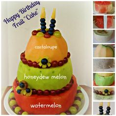 "Happy Birthday Fruit ""Cake"" ~ Simplify, Live, Love"