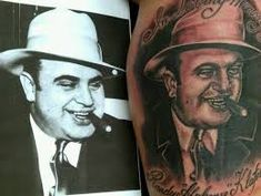 MOB Tattoo 12 Mob Tattoo, Al Capone, Random Tattoos, Portrait, Tatoos, Ideas, Headshot Photography, Portrait Paintings, Thoughts