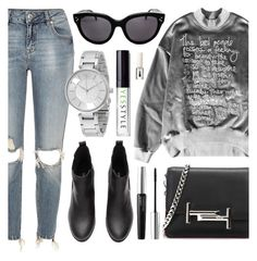 """""""YESSTYLE.com"""" by monmondefou ❤ liked on Polyvore featuring River Island, Tod's, Armani Exchange, Bobbi Brown Cosmetics, modern, Winter and yesstyle"""