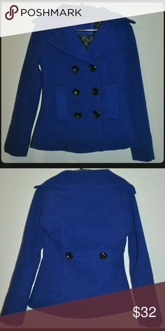 Blue Peacoat Like-New Condition // no flaws / black buttons Jackets & Coats Pea Coats