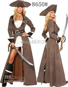 Wholesale Sexy Uniform - Buy New Arrive!!Free Shipping Leather Long Sleeve Sexy Pirate Costumes,women Halloween Costumes MDL8650, $57.59 | DHgate