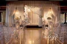 Gorgeous paper flower chuppah by Rachel A. Clingen photo credit Impulse Photography