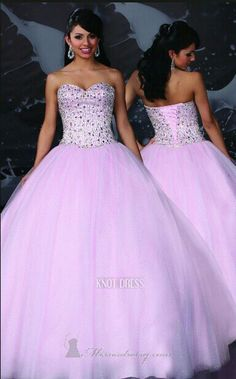 beautiful light purple with a flower design on the corset for quinceanera or sweet 16 dress