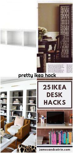 pretty ikea hack , pretty ikea hack... ,  #Hack #Ikea #pretty Hack Hack, Ikea Hack, Desk Hacks, Ikea Billy Bookcase Hack, Shelves, Pretty, Home Decor, Shelving, Decoration Home