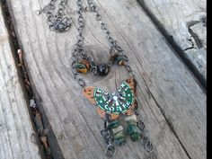 upcycled recycled repurposed aluminum can tin can art jewelry pop can starbucks necklace butterfly by AbsoluteJewelry, via Flickr