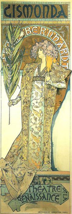 Alphonse Mucha. GISMONDA - Bernhardt.