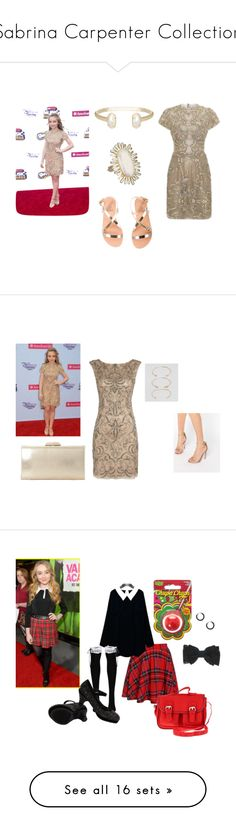 """""""Sabrina Carpenter Collection"""" by minicelebfashion on Polyvore featuring Disney, Kendra Scott, Patricia Bonaldi, Ancient Greek Sandals, Adrianna Papell, Carvela, ALDO, Dune, claire's and plus size clothing"""
