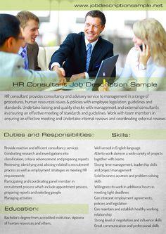Hr Consultant Job Description Sample