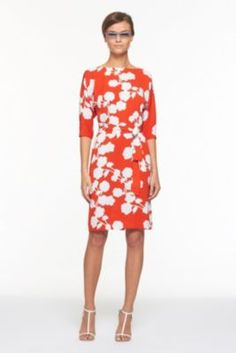 DVF | Maja Two Dress In Halo Buds Large Red, Spring 2012: Beginnings