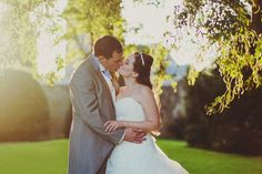 Golden hour wedding portrait at Matfen Hall by 2tone Photography. www.2tonephotography.co.uk
