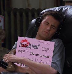 thank u, next meme queenie ariana Chandler Bing, Meditation Songs, Ariana Grande Meme, Lol, Friends Tv, Friends Moments, Thank U, Meme Faces, Mood Pics