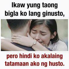 Na fall ka sa kanya, ang tanong mahal ka din ba niya? Filipino Quotes, Pinoy Quotes, Tagalog Love Quotes, Bisaya Quotes, Done Quotes, Heart Quotes, Qoutes, Hugot Lines Tagalog Funny, Tagalog Quotes Hugot Funny