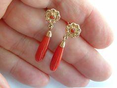 Bloedkoralen oorhangers « Catalog Products « shop « Bonbijou | webshop antieke sieraden
