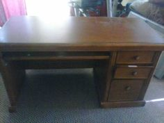 i have a nice desk comes with a metal 2 drawer file cabinet  40.00 a ge profilt stainless cooktop never used  550.00 $0.00 USD