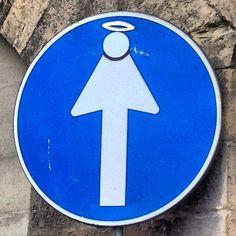 #angel in traffic #art #streetart  #silhouettefigure #silhouette #sign #florence #italy #firenze #areol #arrow - @surely_bassie- #webstagram