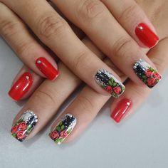 116 Me gusta, 0 comentarios - By Tancinha Castro (@tancinha_castro) en Instagram Flower Nails, Red Nails, Nail Arts, Nail Polish, Nail Nail, Nail Designs, Hair Beauty, Tattoos, Instagram Posts