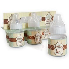 First one finished wins!   Bottles Up! - Baby Shower Game - 6 ct | BigDotOfHappiness.com